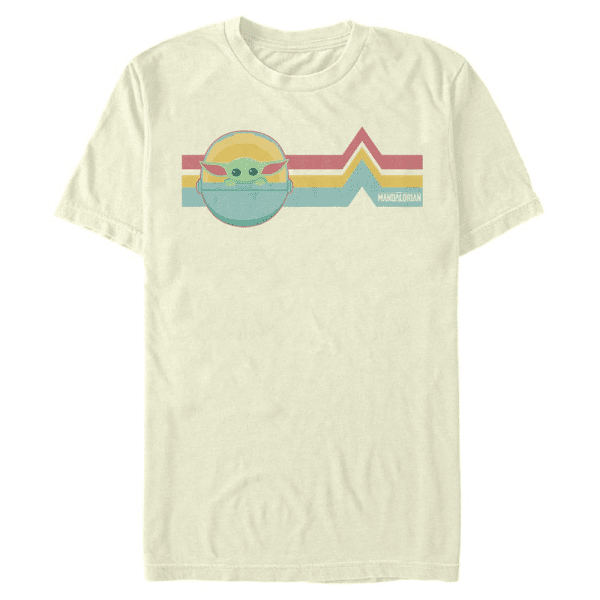 Rainbow Child The Child - Star Wars Mandalorian - Men's T-Shirt - Cream - Front