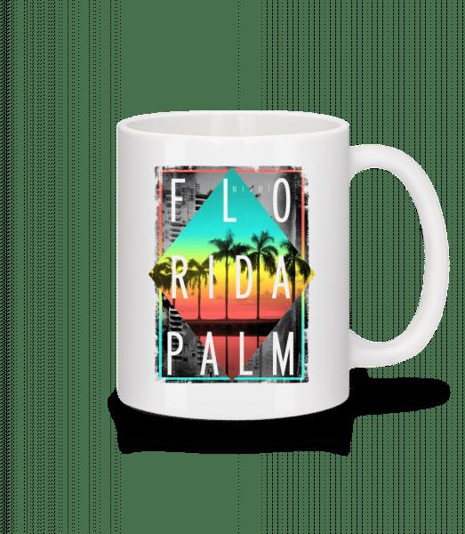 Florida Palm - Mug - White - Vorn