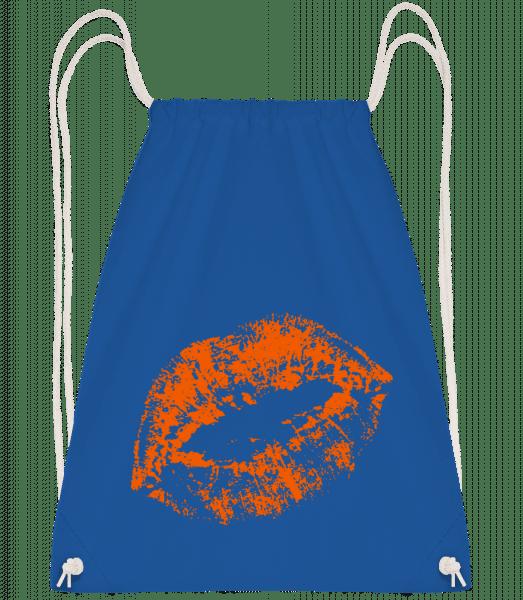 Orange Lips - Turnbeutel - Royalblau - Vorn