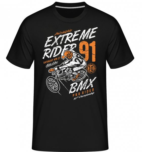 Extreme Rider -  Shirtinator Men's T-Shirt - Black - Front