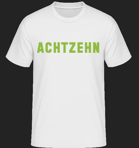 Achtzehn - Shirtinator Männer T-Shirt - Weiß - Vorn