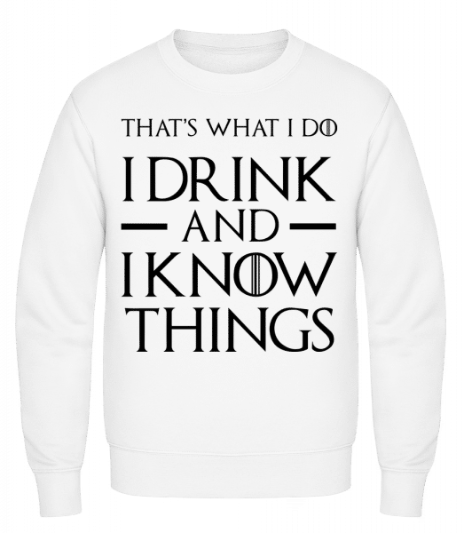 I Drink And I Know Things - Classic Set-In Sweatshirt - White - Vorn