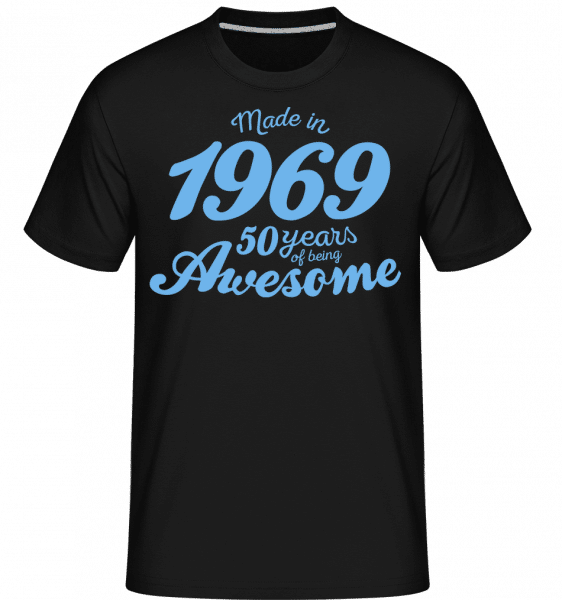 Made In 1969 50 Years -  Shirtinator Men's T-Shirt - Black - Front