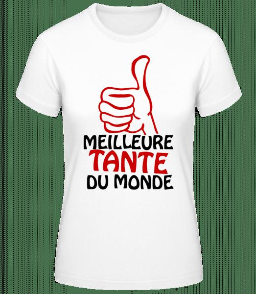 Meilleure Tante Du Monde - T-shirt standard Femme - Blanc - Devant