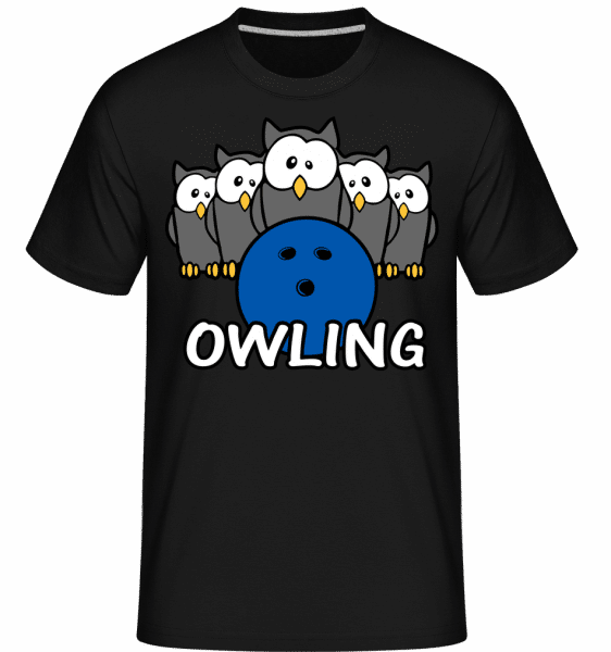 Owling -  Shirtinator Men's T-Shirt - Black - Front