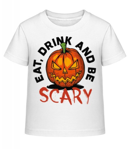 Eat Drink And Be Scary - Kid's Shirtinator T-Shirt - White - Front
