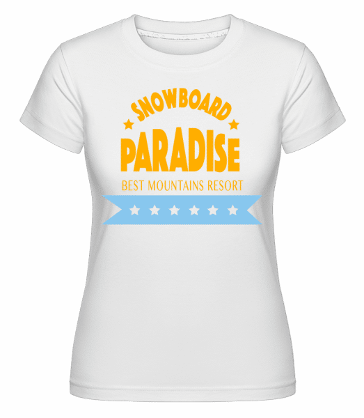 Snowboard Paradise Sign -  Shirtinator Women's T-Shirt - White - Vorn