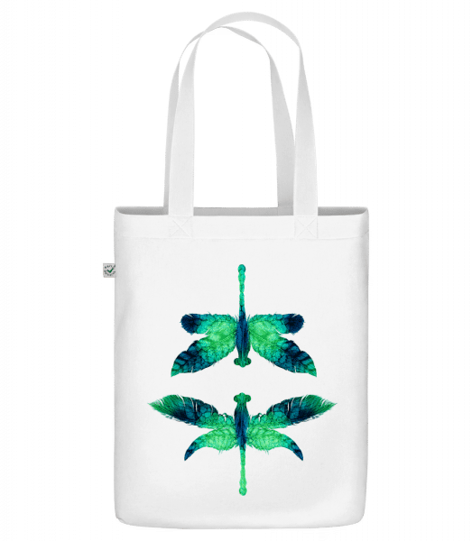 "Leaf Dragonfly - Organic ""Earth Positive"" tote bag - White - Front"