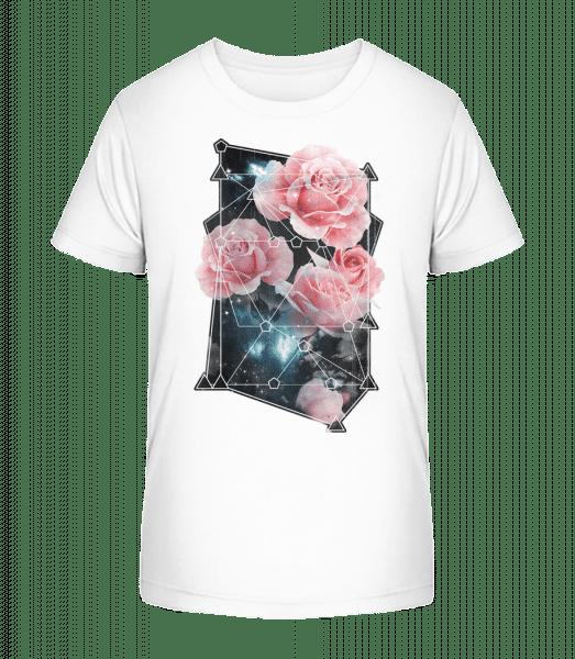 Geometry Roses - Kid's Premium Bio T-Shirt - White - Vorn