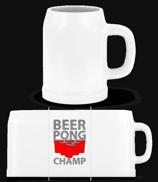 Beer Pong Champ - Beer Mug - White - Vorn