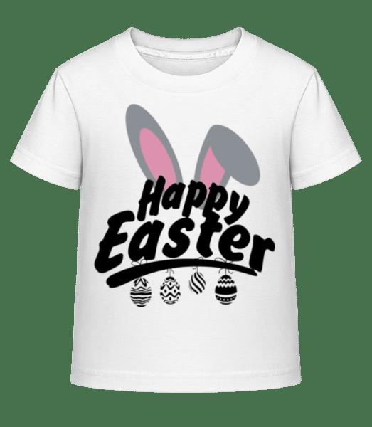 Happy Easter Logo - Kid's Shirtinator T-Shirt - White - Vorn