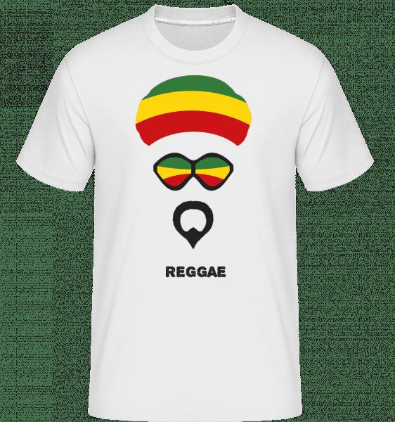 Reggae Face -  T-Shirt Shirtinator homme - Blanc - Devant
