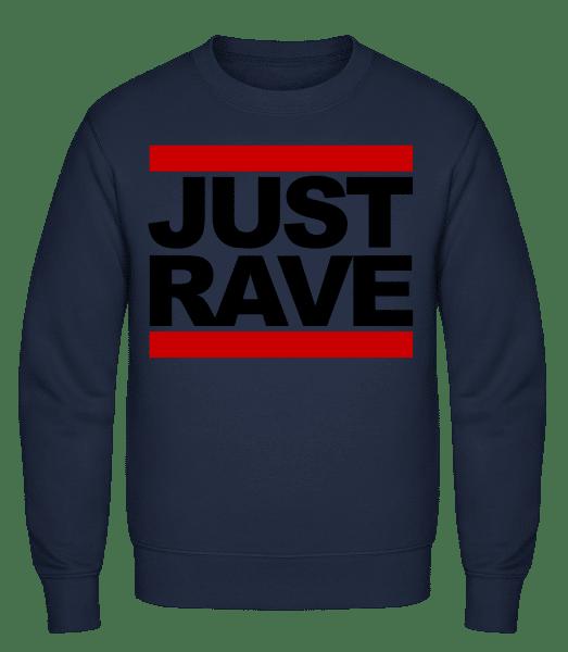 Just Rave Logo - Classic Set-In Sweatshirt - Navy - Vorn