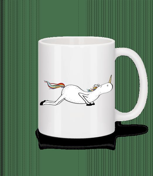Yoga Unicorn Pushups - Mug - White - Front