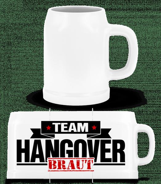 Team Hangover Braut - Bierkrug - Weiß - Vorn