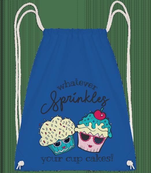 Whatever Sprinkles Your Cup Cake - Drawstring Backpack - Royal blue - Vorn