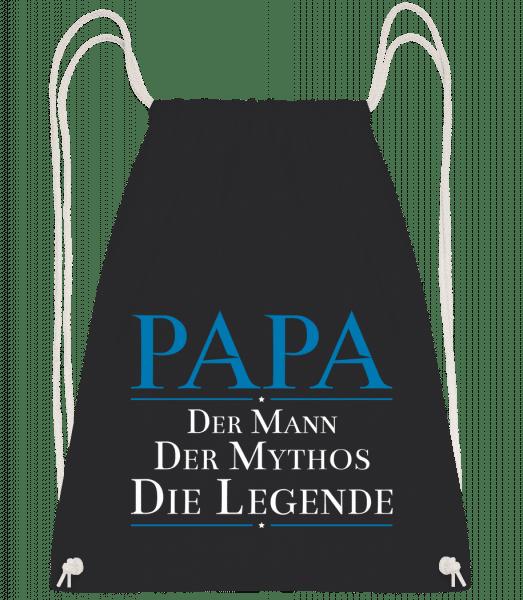 Papa Die Legende - Turnbeutel - Schwarz - Vorn
