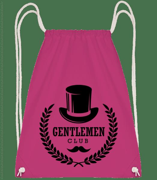 Gentlemen Club - Drawstring Backpack - Magenta - Vorn
