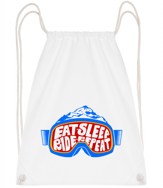Eat Sleep Ride Repeat - Sac à dos Drawstring - Blanc - Vorn