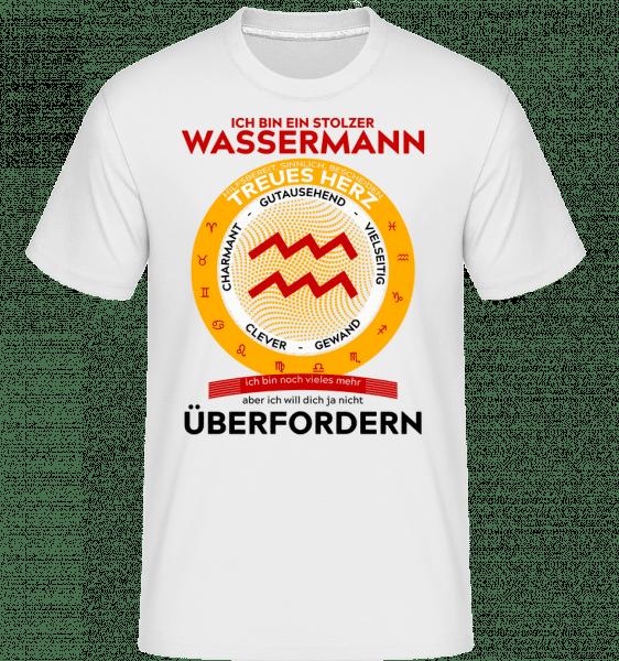 Wassermann Treues herz - Shirtinator Männer T-Shirt - Weiß - Vorn