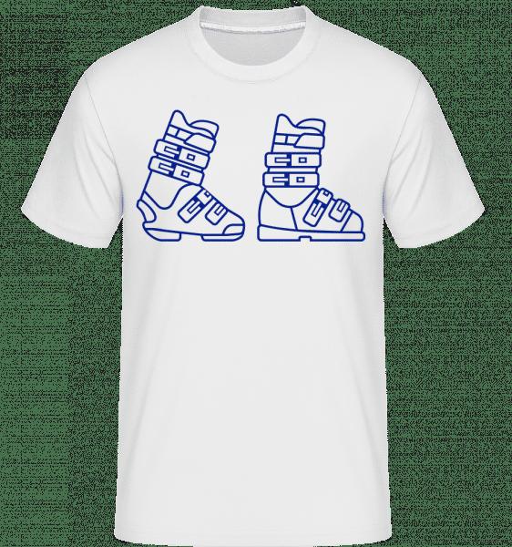 Skiing Boots Blue - Shirtinator Männer T-Shirt - Weiß - Vorn