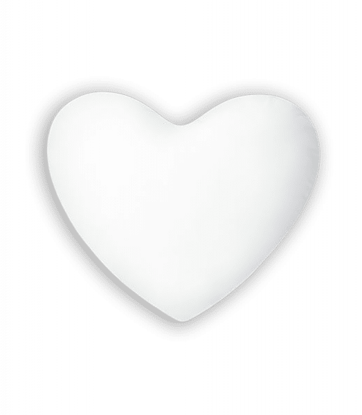 Heart Shape Cushion - White - Front