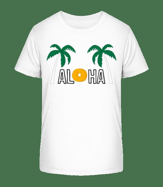 Aloha - Kid's Premium Bio T-Shirt - White - Vorn
