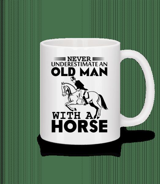 Old Man With Horse - Tasse - Weiß - Vorn