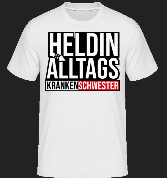 Heldin Des Alltags Krankenschwes - Shirtinator Männer T-Shirt - Weiß - Vorn