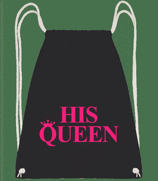 His Queen Pink - Drawstring Backpack - Black - Vorn