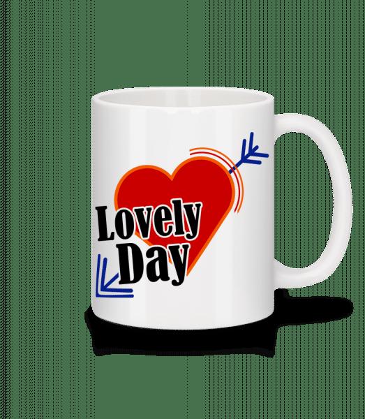 Lovely Day - Mug - White - Vorn