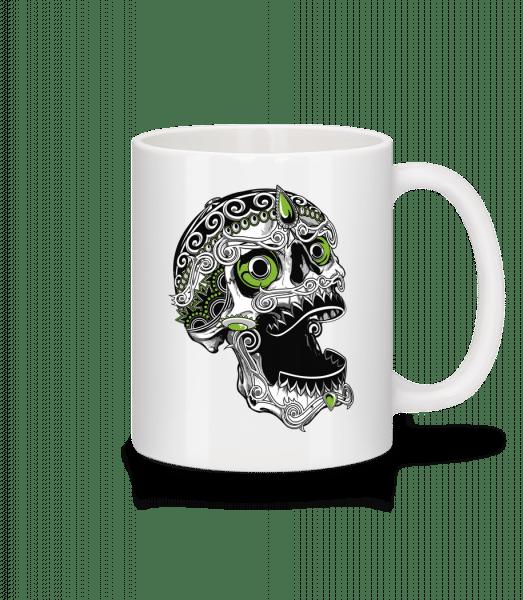 Cool Skull - Mug - White - Vorn