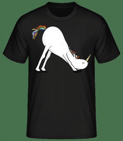 Jóga jednorožec Snímek - Basic T-Shirt - Černá - Napřed