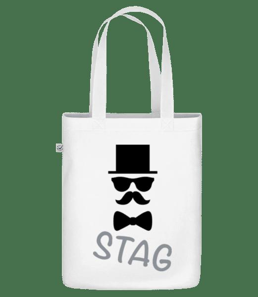 "Stag - Knír - Organická taška ""Earth Positive"" - Bílá - Napřed"