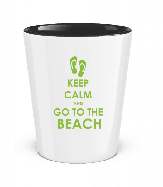 Go To The Beach - Two-Toned Shot Glass - White - Front