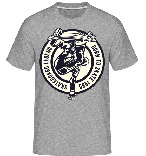 Skateboard Legend -  Shirtinator Men's T-Shirt - Heather grey - Front