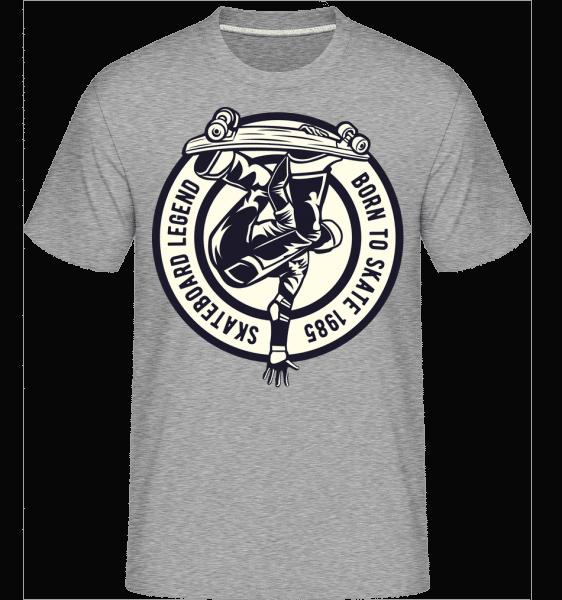 Skateboard Legend -  Shirtinator Men's T-Shirt - Heather grey - Vorn