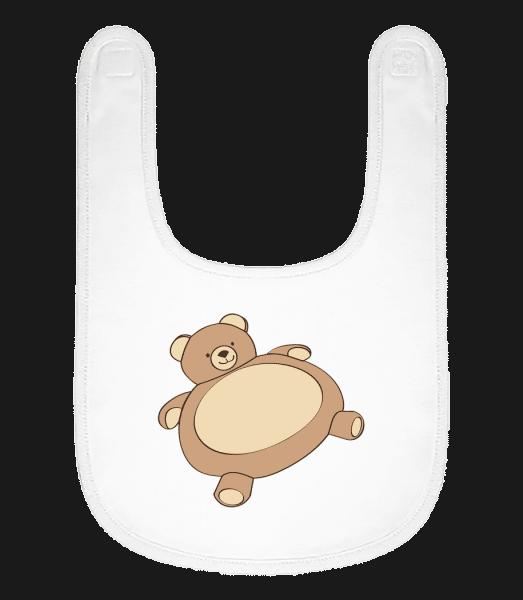 Baby Comic - Cosy Bear - Baby Bib - White - Vorn