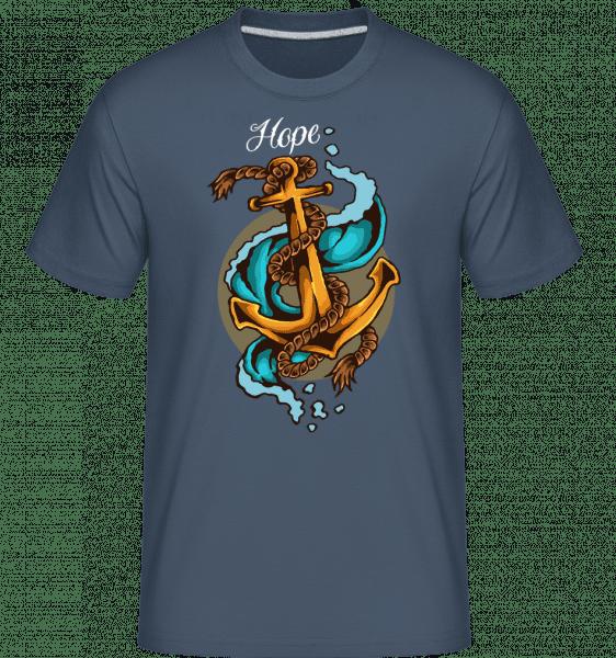 Anchor Vintage Tattoo -  Shirtinator Men's T-Shirt - Denim - Vorn