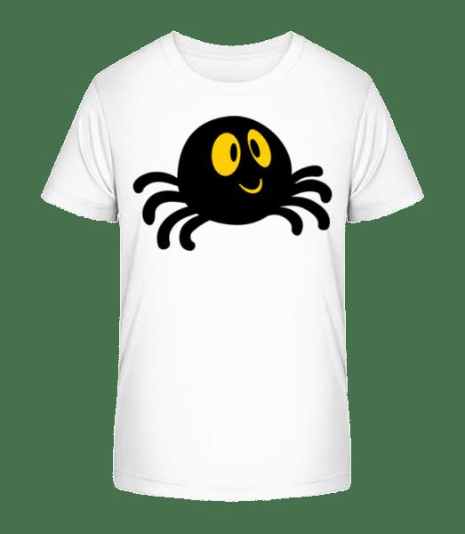 Cartoon Spider - Kid's Premium Bio T-Shirt - White - Vorn