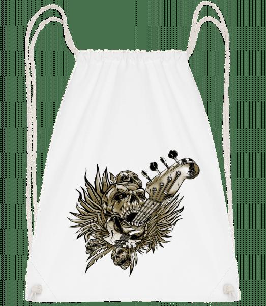 Death Of Guitars - Drawstring Backpack - White - Vorn