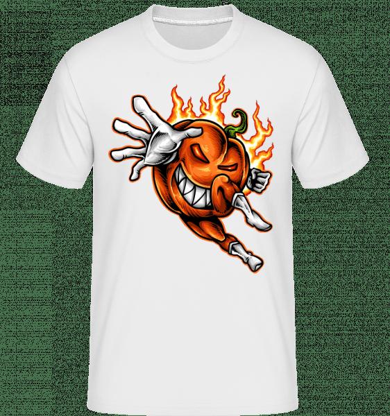 Brennender Kürbis - Shirtinator Männer T-Shirt - Weiß - Vorn