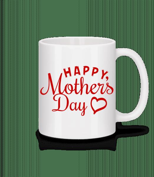 Šťastný deň matiek - Keramický hrnček - Biela - Predné