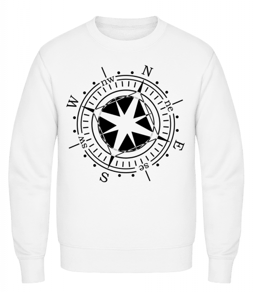 Compass - Classic Set-In Sweatshirt - White - Vorn