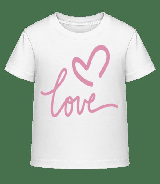 Love - Kid's Shirtinator T-Shirt - White - Vorn