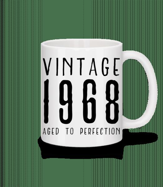 Vintage 1968 Aged To Perfection - Tasse - Weiß - Vorn
