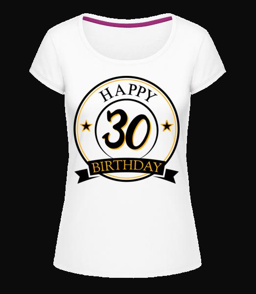 Happy Birthday 30 - Megan Crewneck T-Shirt - White - Vorn