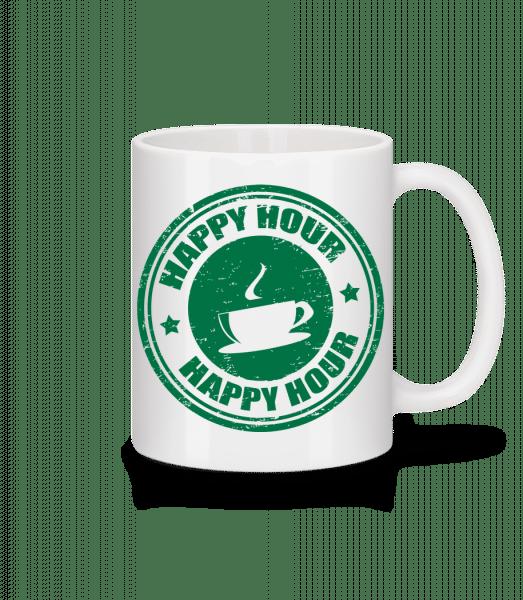 Happy Hour Coffee - Keramický hrnček - Biela - Predné