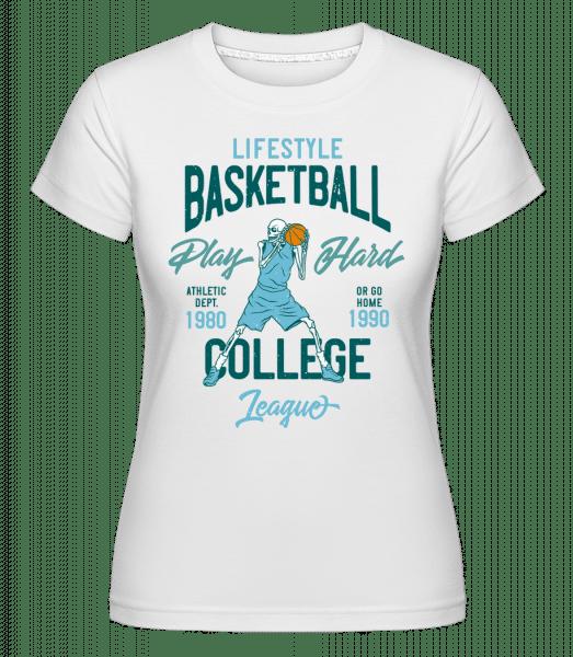Lifestyle Basketball -  Shirtinator Women's T-Shirt - White - Vorn