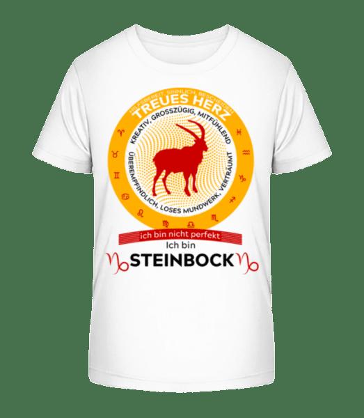 Sternzeichen Steinbock - Kinder Premium Bio T-Shirt - Weiß - Vorn
